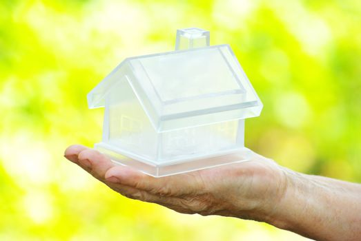 house in human hand