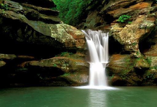 Old Man's Cave Falls, Ohio