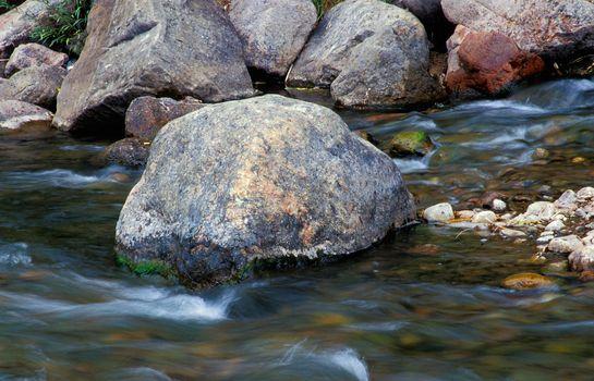 Boulder in Vail stream.