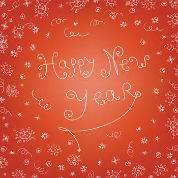 Handwritten quirky new year background