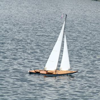 sailing boat on the lake
