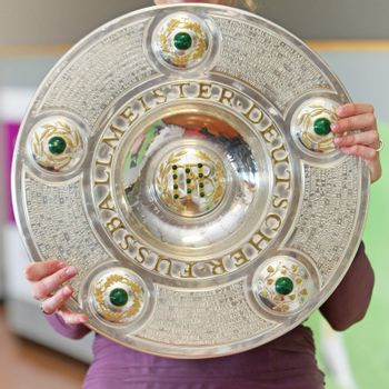 The award for the championship trophy as German football champio