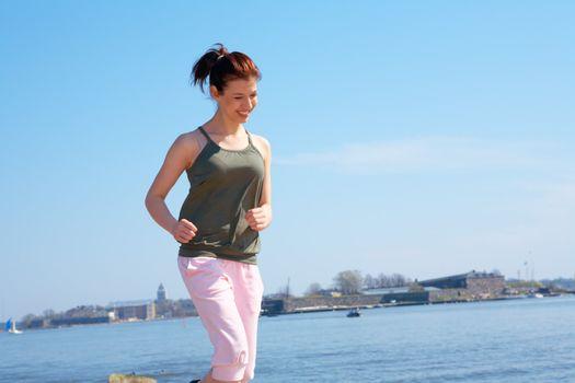 Teenage Girl Jogging