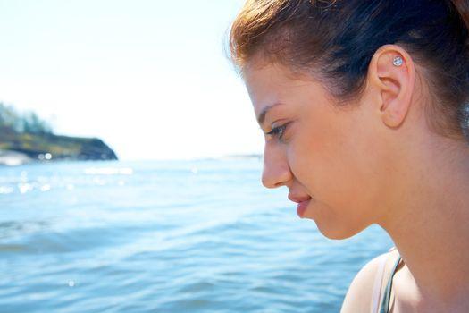 Teenage Girl by Sea