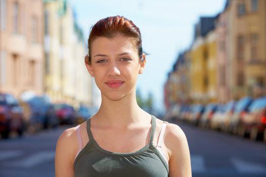 Teenage Girl in Street