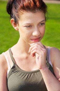 Teenage Girl Contemplating