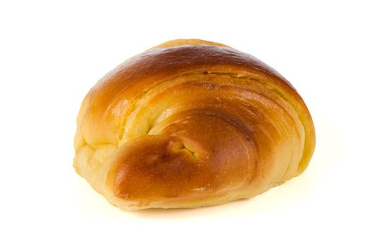 Croissant isolated on white background.