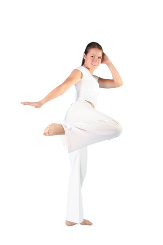 power fighting woman body sports beautiful instructor