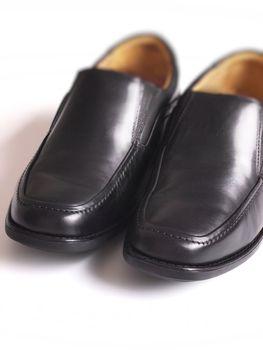 men'sblack business shoes