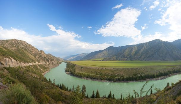 Altay mountains. river Katun. Russia