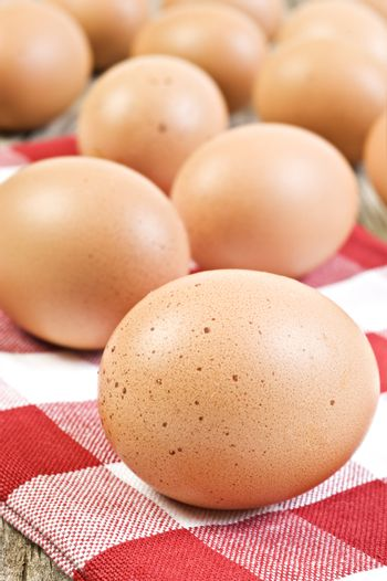Fresh healthy eggs from the farm ready to be cooked