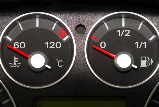 The instrument panel of the car