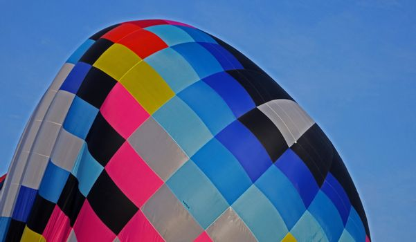 Close up of top of a hot air balloon