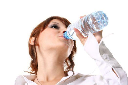 human drink portrait women healthy young bottle