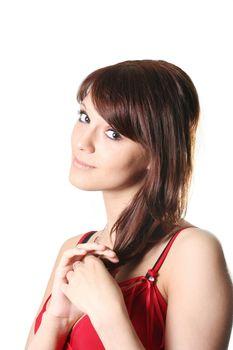 girls lifestyles beautiful sensuality make-up flirting portrait
