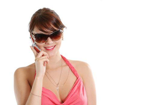 communications women sunglasses adult telephone mobile hair