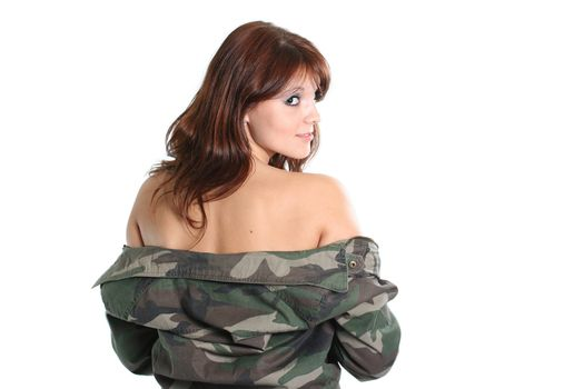 clothing armed military forces camouflage women model