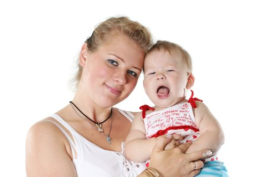 isolated parent people love family cheerful mother