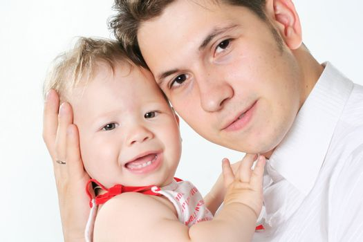 cheerful human baby white culture positivity father