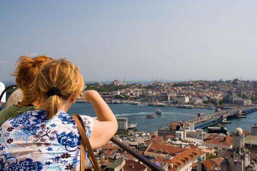 cities building landscape travel females blue sky