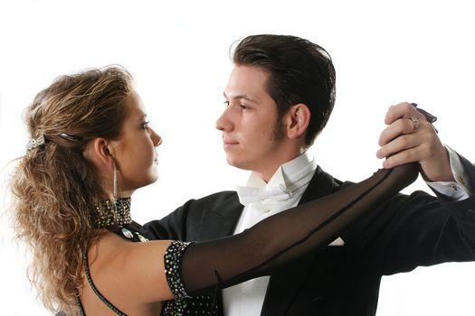 dancer ballroom dancing couple tango partners dance