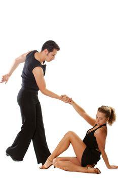 dancer dancing couple love elegance dress touching