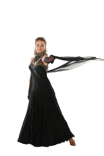 dancer isolated one posing dress elegance young