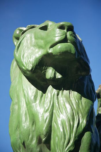lion monument in Madrid