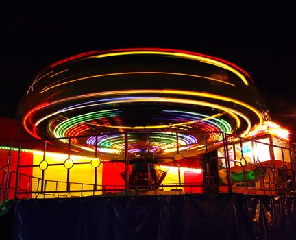 bright lights of merry-go-round