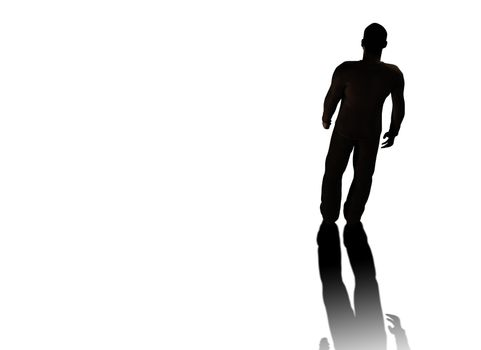man isolated with clipping path