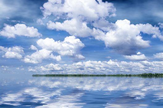 summer river Volga