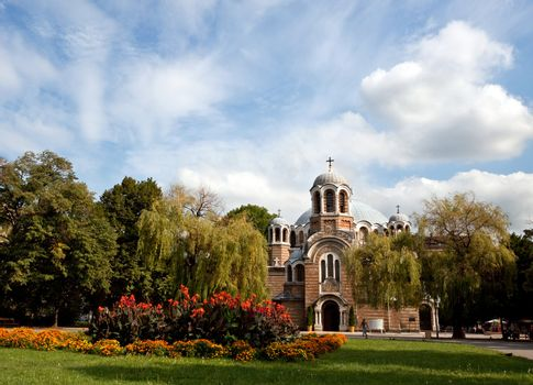 View of an Orthodox church in Sofia