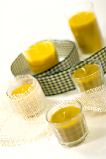 five yellow candles