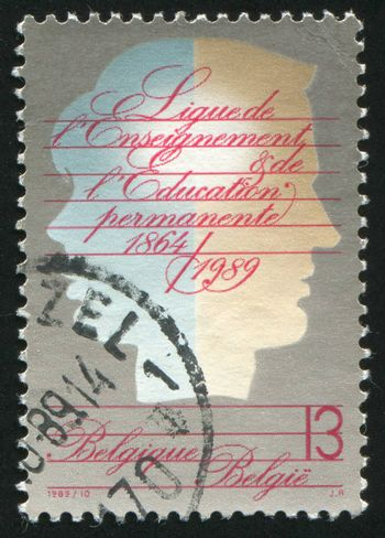 BELGIUM - CIRCA 1989: stamp printed by Belgium, shows Education League, circa 1989
