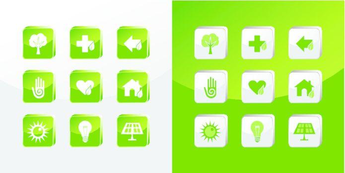Go Green icons set
