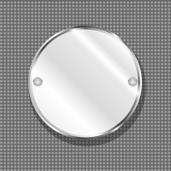 round metal plate texture. steel vector background