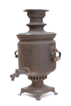 Old copper samovar