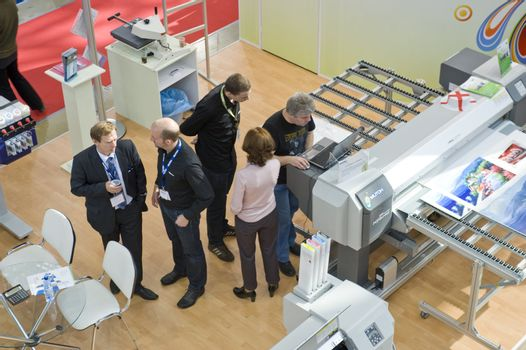 Business meetingin the copy and print  desigh studio