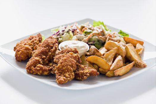 Tasty Chicken Strips Lunch