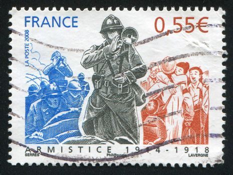FRANCE - CIRCA 2008: stamp printed by France, shows people, circa 2008
