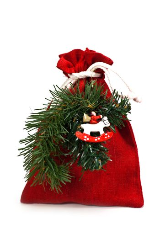 bag of x-mas gifts