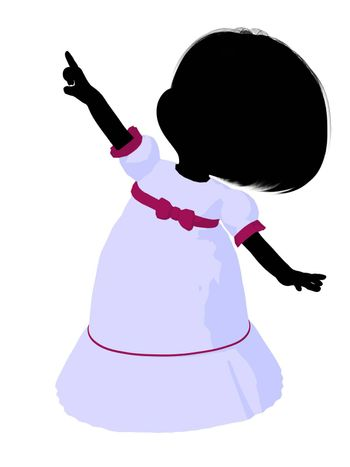 Little romance girl on a white background