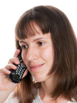 Business communication - women talking telephone