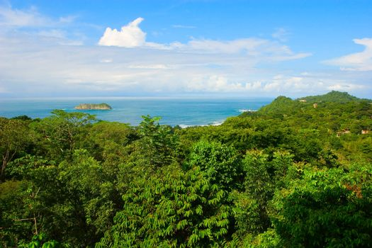 View over the Pacific Ocean. Manuel Antonio, Costa Rica.