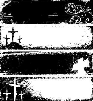 Grunge christian banners