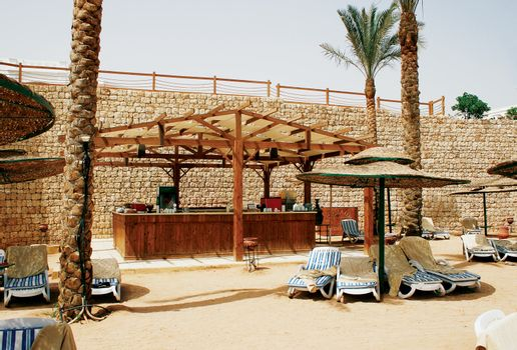 Bar on a hot beach