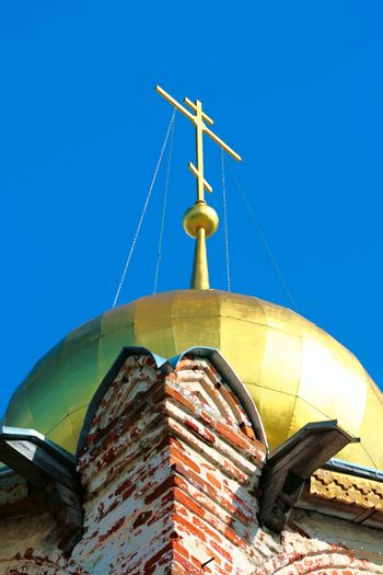 Dome with a cross in Rostov Veliky