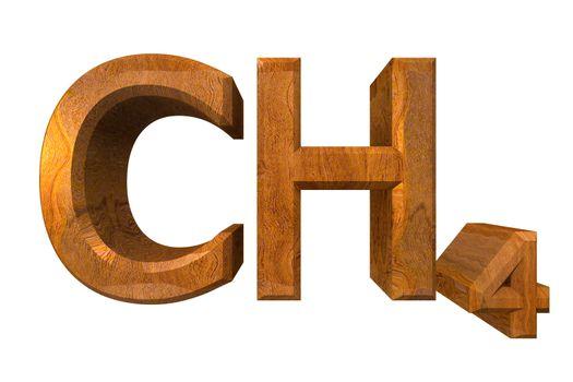 3d chemistry formulas in wood of Methane