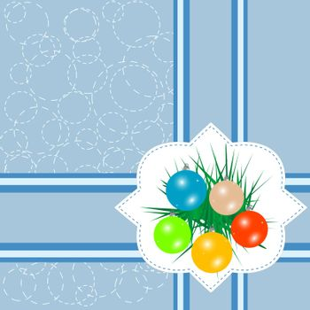 christmas ball on abstract background. vector invitation card