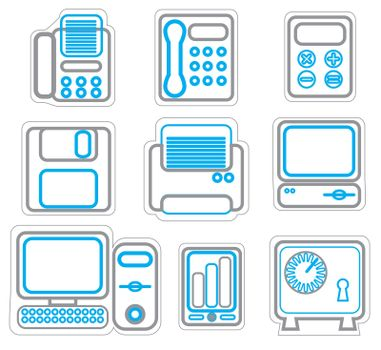 Office & Business icons duoton. Vector Illustration eps 8.